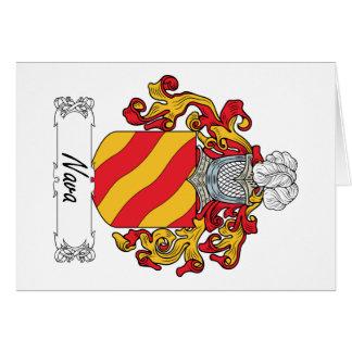 Escudo de la familia de Nava Tarjeta De Felicitación