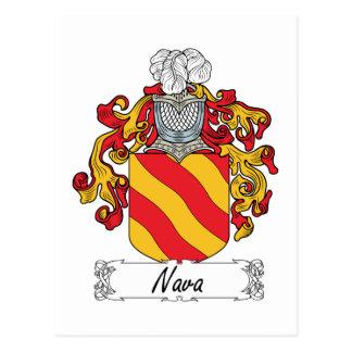 Escudo de la familia de Nava Postal
