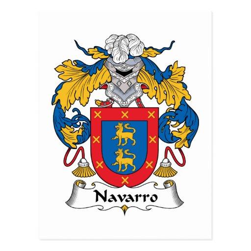 Escudo de la familia de Navarro Tarjeta Postal