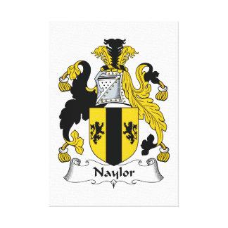 Escudo de la familia de Naylor Impresiones En Lienzo Estiradas