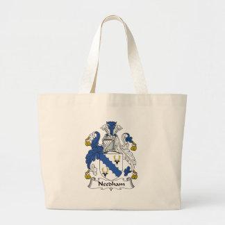 Escudo de la familia de Needham Bolsa Tela Grande
