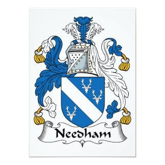 """Escudo de la familia de Needham Invitación 5"""" X 7"""""""