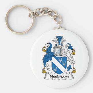Escudo de la familia de Needham Llavero Redondo Tipo Pin