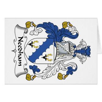 Escudo de la familia de Needham Tarjeta De Felicitación