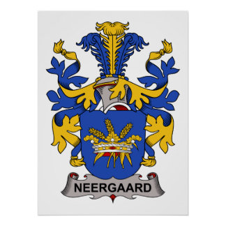 Escudo de la familia de Neergaard Póster