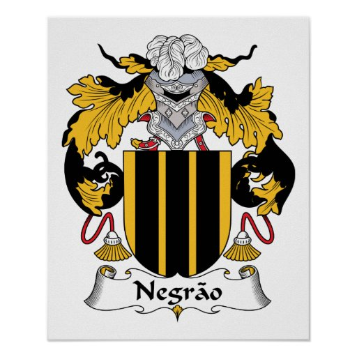 Escudo de la familia de Negrao Póster