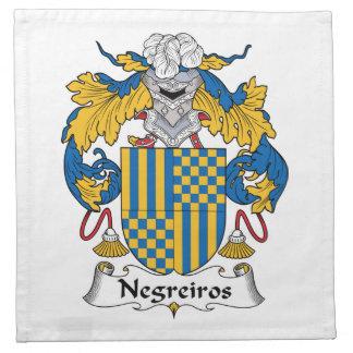 Escudo de la familia de Negreiros Servilleta