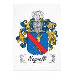 Escudo de la familia de Negrelli Invitacion Personalizada