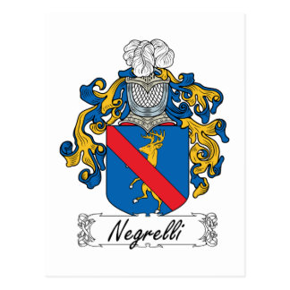 Escudo de la familia de Negrelli Tarjeta Postal