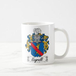 Escudo de la familia de Negrelli Taza Básica Blanca