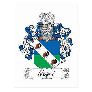 Escudo de la familia de Negri Tarjeta Postal