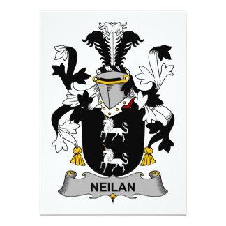 """Escudo de la familia de Neilan Invitación 5"""" X 7"""""""