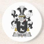 Escudo de la familia de Neilan Posavasos Personalizados