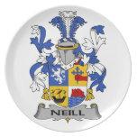 Escudo de la familia de Neill Platos Para Fiestas