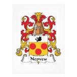 Escudo de la familia de Nepveu Invitaciones Personalizada