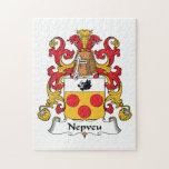 Escudo de la familia de Nepveu Puzzles