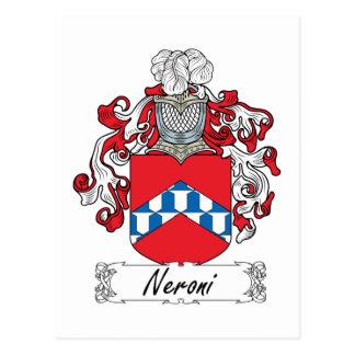 Escudo de la familia de Neroni Tarjeta Postal
