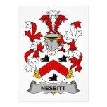 Escudo de la familia de Nesbitt Comunicado Personalizado