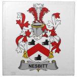 Escudo de la familia de Nesbitt Servilleta Imprimida