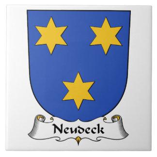 Escudo de la familia de Neudeck Azulejo