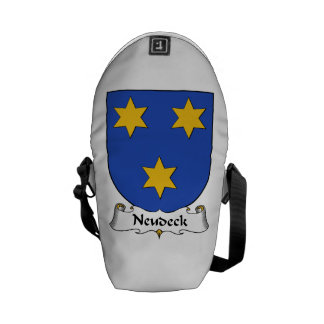 Escudo de la familia de Neudeck Bolsas De Mensajeria