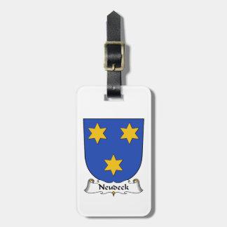 Escudo de la familia de Neudeck Etiquetas Bolsa