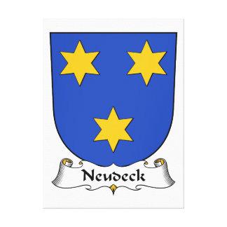 Escudo de la familia de Neudeck Lona Envuelta Para Galerías