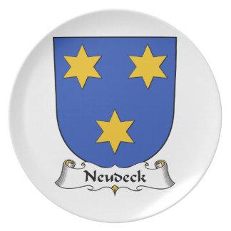 Escudo de la familia de Neudeck Plato De Comida