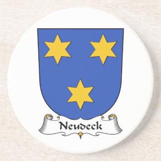 Escudo de la familia de Neudeck Posavasos Para Bebidas