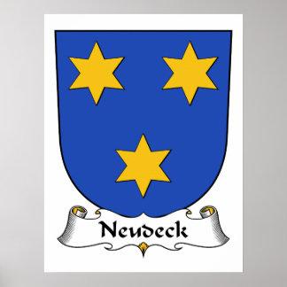 Escudo de la familia de Neudeck Poster