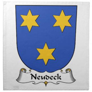 Escudo de la familia de Neudeck Servilletas De Papel