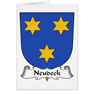 Escudo de la familia de Neudeck Tarjeton