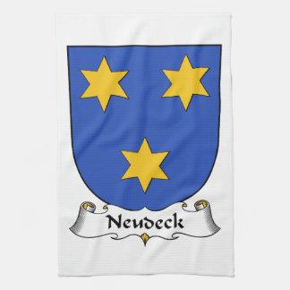 Escudo de la familia de Neudeck Toallas