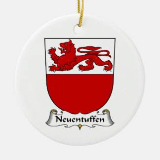 Escudo de la familia de Neuentuffen Ornaments Para Arbol De Navidad