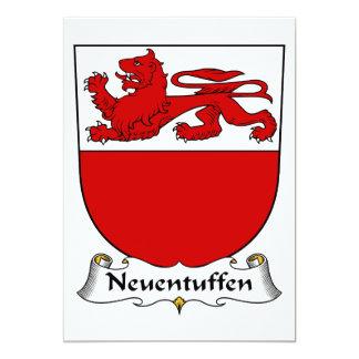 Escudo de la familia de Neuentuffen Invitación 12,7 X 17,8 Cm