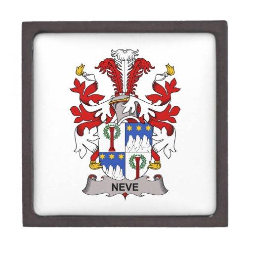 Escudo de la familia de Neve Caja De Joyas De Calidad