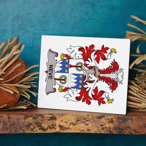 Escudo de la familia de Neve Placas Para Mostrar