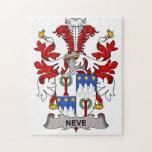 Escudo de la familia de Neve Puzzles Con Fotos