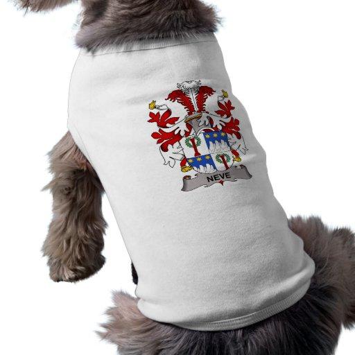 Escudo de la familia de Neve Ropa Para Mascota