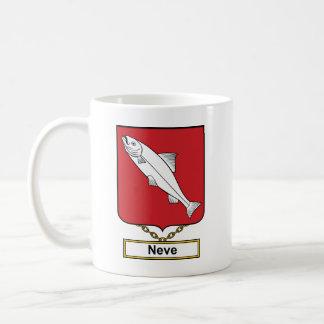 Escudo de la familia de Neve Taza De Café