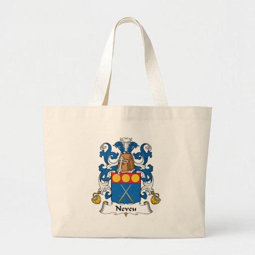 Escudo de la familia de Neveu Bolsa Tela Grande