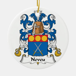 Escudo de la familia de Neveu Adorno Redondo De Cerámica