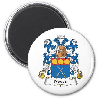 Escudo de la familia de Neveu Imán Redondo 5 Cm