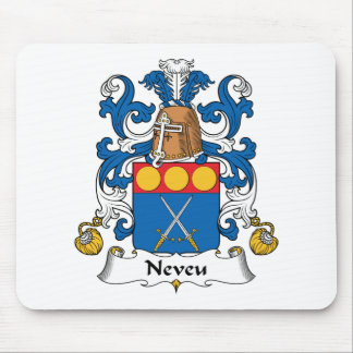 Escudo de la familia de Neveu Alfombrillas De Raton