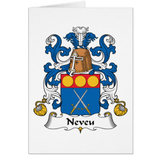 Escudo de la familia de Neveu Tarjeta De Felicitación
