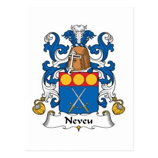 Escudo de la familia de Neveu Postales