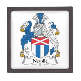 Escudo de la familia de Neville Cajas De Recuerdo De Calidad