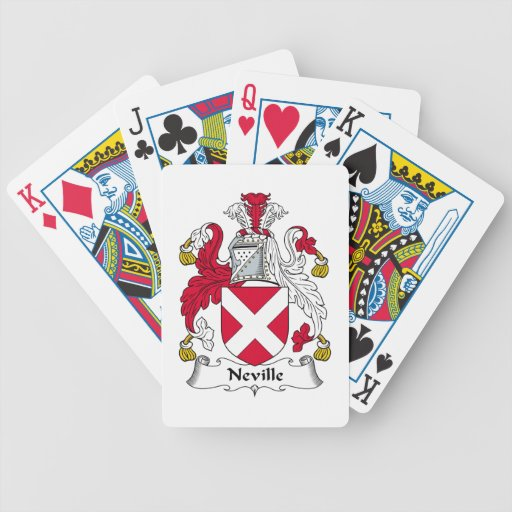 Escudo de la familia de Neville Baraja Cartas De Poker