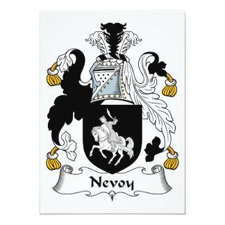 """Escudo de la familia de Nevoy Invitación 5"""" X 7"""""""
