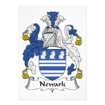Escudo de la familia de Newark Comunicado Personalizado
